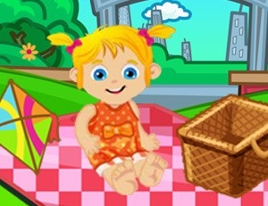 Baby Ella on a Picnic